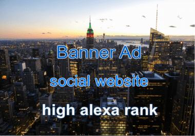 Banner on Social Website for 30 days