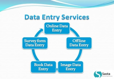 Complete any type of Data Entry work, 5 hours for $5