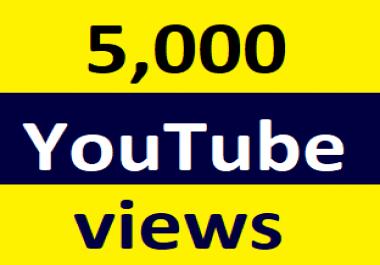 5,000+You-Tube Vi'ew Non Drop and Safe very Fast Refill Guaranteed