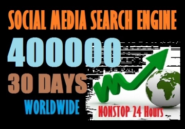 400000 Web Traffic Worldwide from Social Media and Search Engine