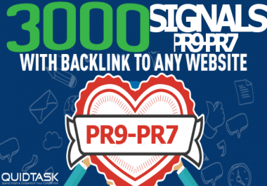 Build 3000 PR9 Social Signals - Powerful SERP, SEO and Traffic Boost campaign for your website