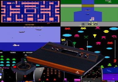 Videogame Retro Style: ATARI Style