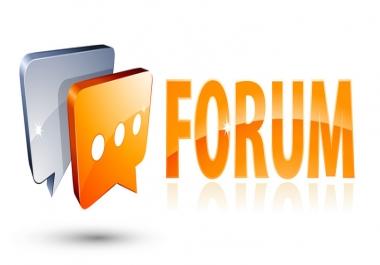 Provide 20 Forum Post backlinks