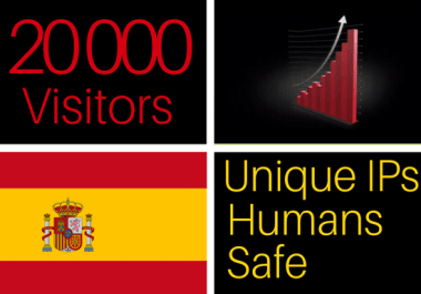 drive 20k visitors from Spain to your website, Spanish traffic