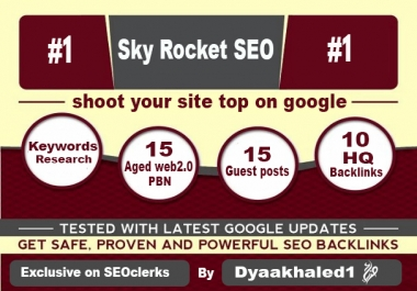 Afford Sky Rocket SEO campaign that shoot your site top on google and other search engine