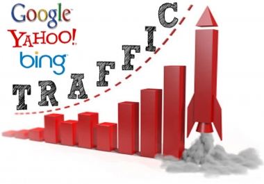 Send 60,000+Real Human Traffic Google Twitter Bing Youtube etc