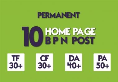 Create 10 Manual HIGH TF CF 20+ DA 15+ PA 35+ Dofollow PBN Backlinks