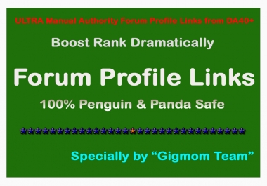 ULTRA DOFOLLOW Manual 200 Authority Forum Profile Links from DA40+ to Boost Rank
