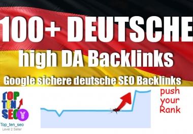 100 plus high authority german backlinks Premium 100+ Backlinks