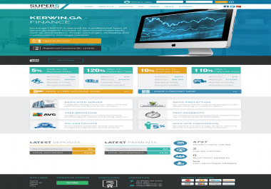 Stuniing Hyip website with GC Hyip manager pro script and Hosting