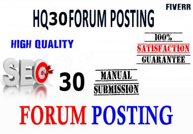 I wil Provide 30 General Forum Posting for your website