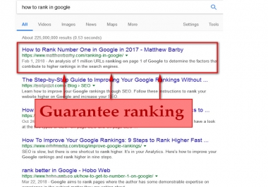 Boost website ranking top of major search engines