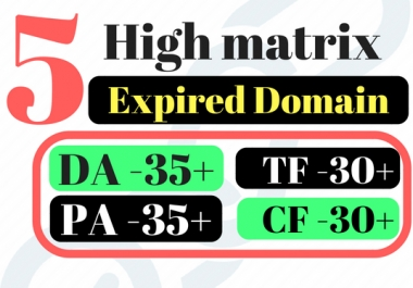 Find 5 Expired Domain Name By Domain Research