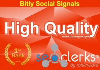 High Quality 125,000 Bitly Social Signals Important Website Search Engine Optimization