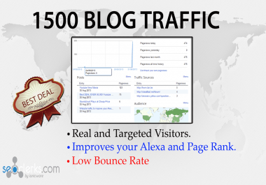 send 1500 targeted visitors to your blogspot or Blogspot  post