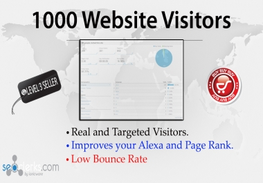 send 1000+ Unique visitors to boost your website TRAFFIC