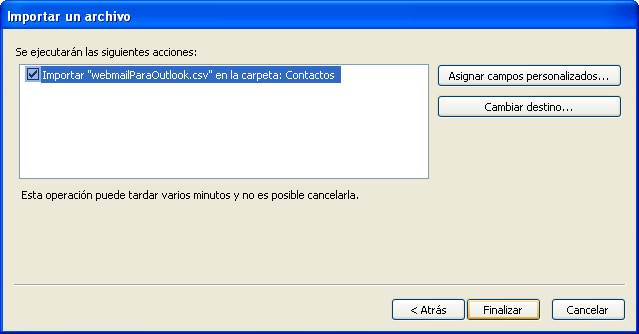 Exportar Contactos a Outlook