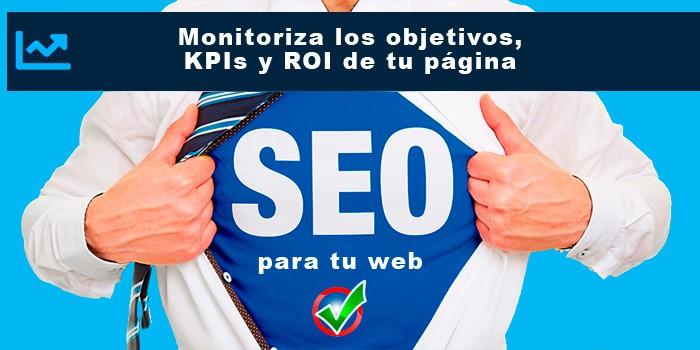Monitoriza los objetivos, KPIs y ROI de tu página