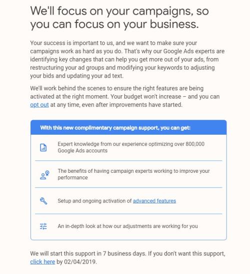 Google Ads передаст управление некоторыми аккаунтами своим экспертам