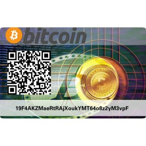 Bitcoin BTC PVC Card wallet