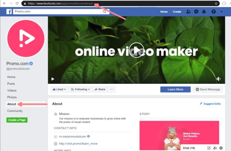Facebook About Us