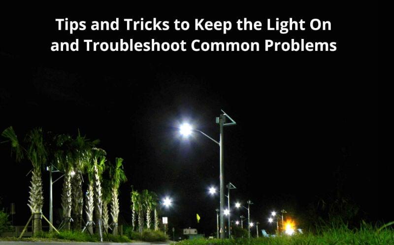 solar outdoor lighting troubleshooting