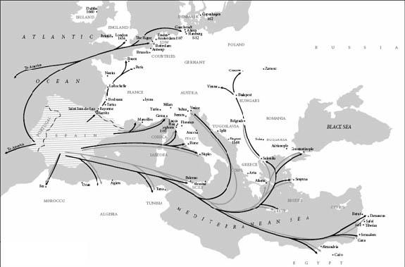 La migrazione degli ebrei sefarditi dopo il 1492
