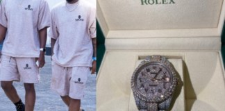 Davido Rolex watch