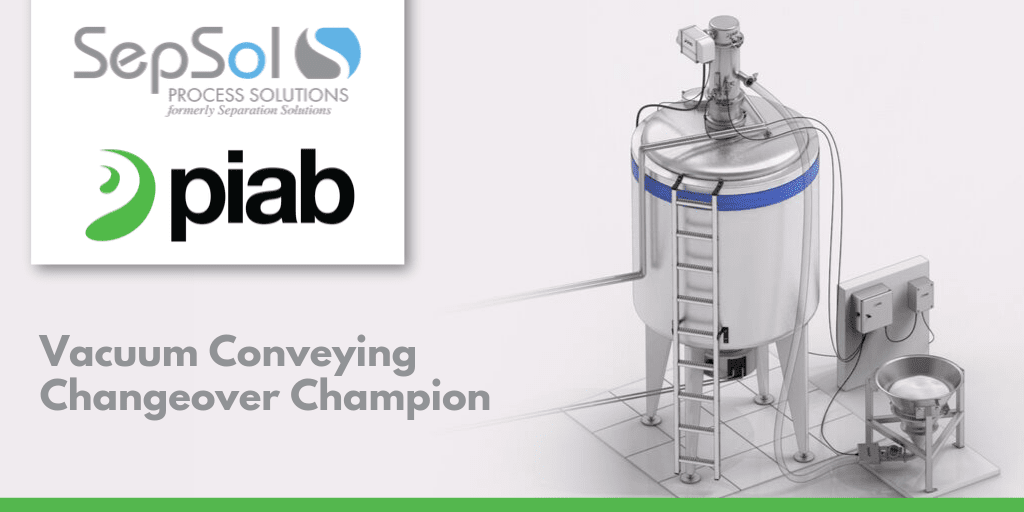 Piab's Vacuum Conveying Changeover Champion