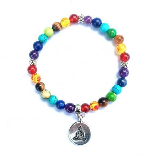 Bracelet 7 Chakras Bouddha