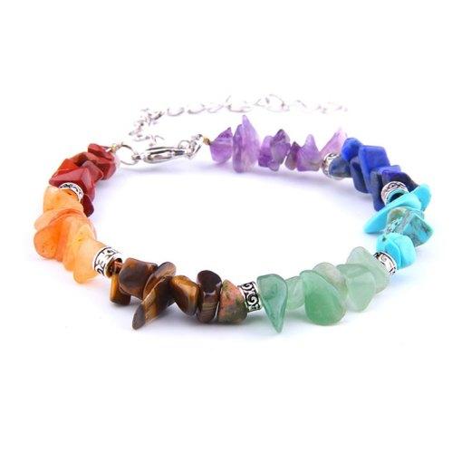 bracelet 7 chakras pierre veritable