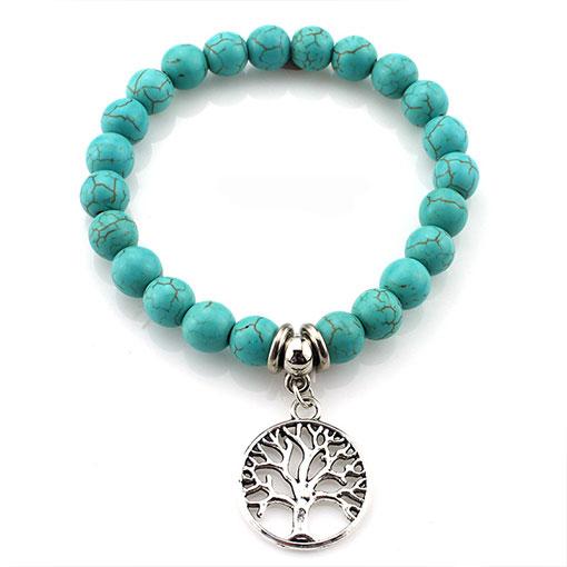 Bracelet Pierre Bleu Turquoise