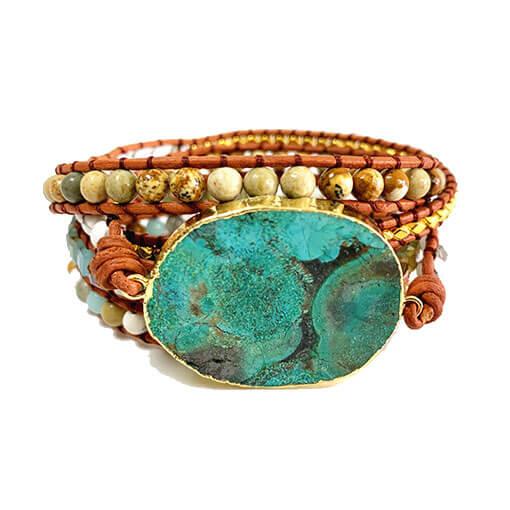 Bracelet Pierre Turquoise Boho