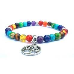 Bracelet 7 Chakras avec Arbre de vie