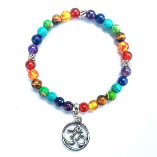 Bracelet 7 Chakras Ohm