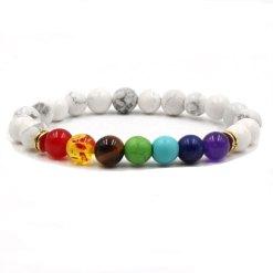 bracelet 7 chakras howlite