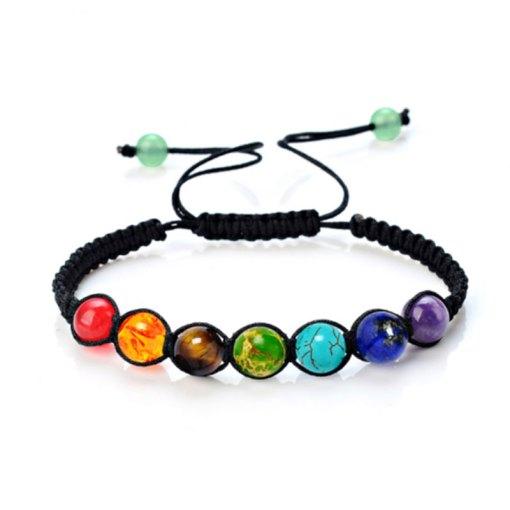 bracelet boule 7 chakras authentique
