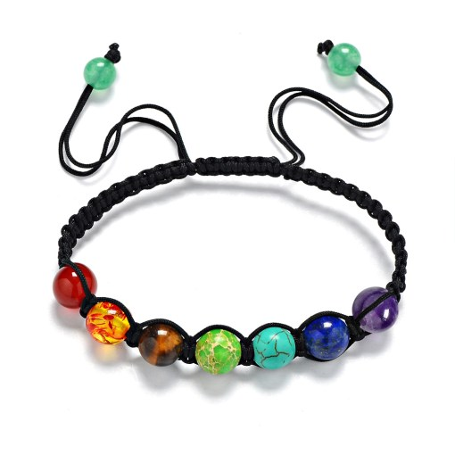 bracelet 7 chakras authentique 6mm