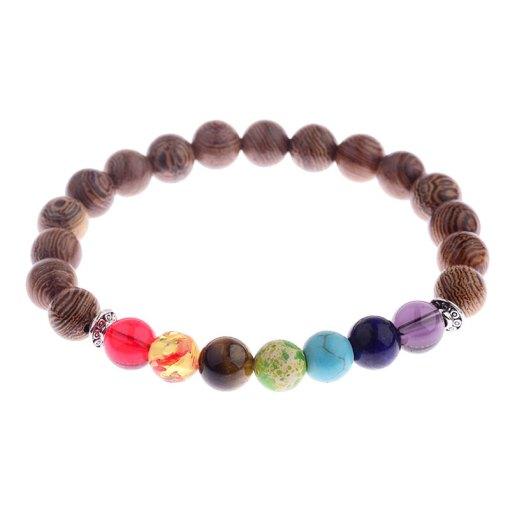 Bracelet 7 Chakras Bois harmonisation