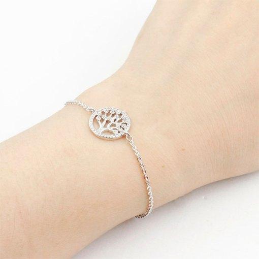 Bracelet Arbre de Vie Plaqué Argent