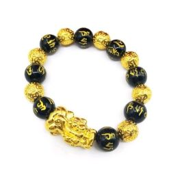 Bracelet Bouddhiste Doré Chanceux