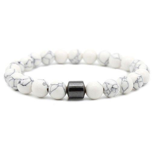 Bracelet Homme Perle Blanche