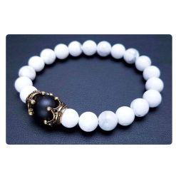 Bracelet Homme Perle Noir et Blanc