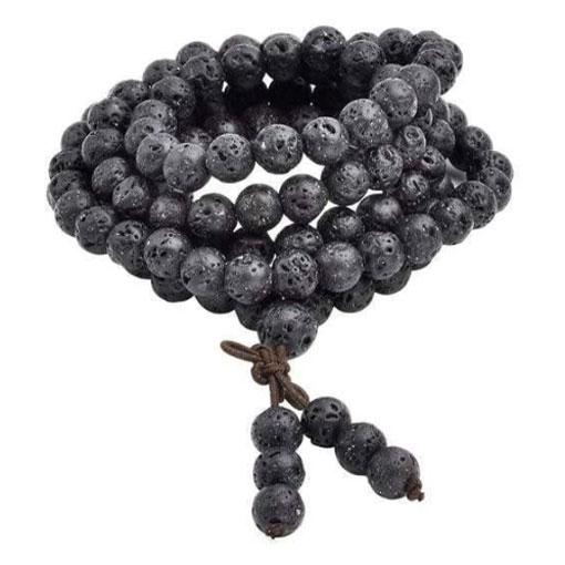 Bracelet Mala en pierre de lave