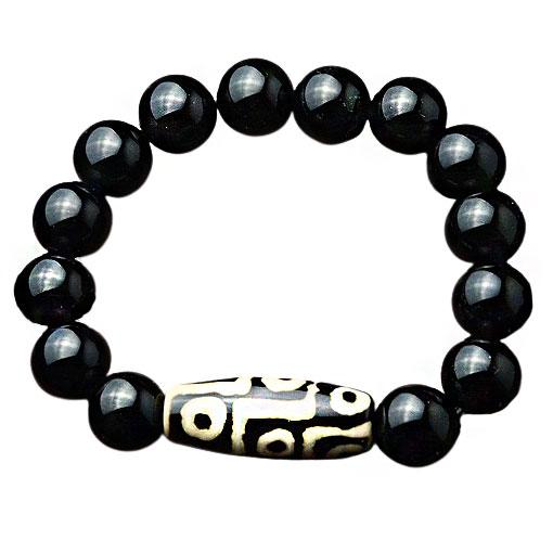 Bracelet Pierre Agate Noire