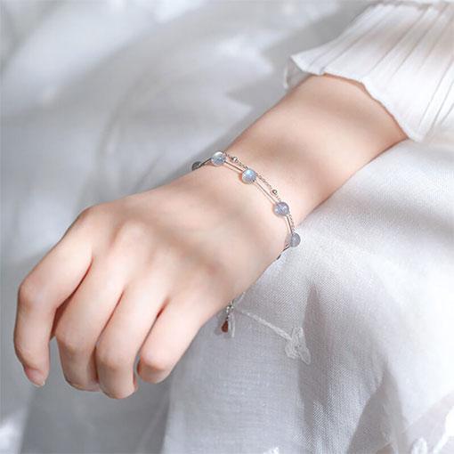 Bracelet Pierre de Lune Véritable