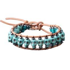 Bracelet pierre tete de mort turquoise