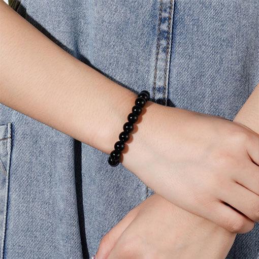 Bracelet Pierre Tourmaline Noire