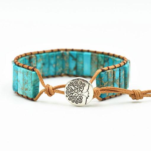 Bracelet Pierre Turquoise Véritable