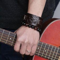 Bracelet Tibétain Cuir